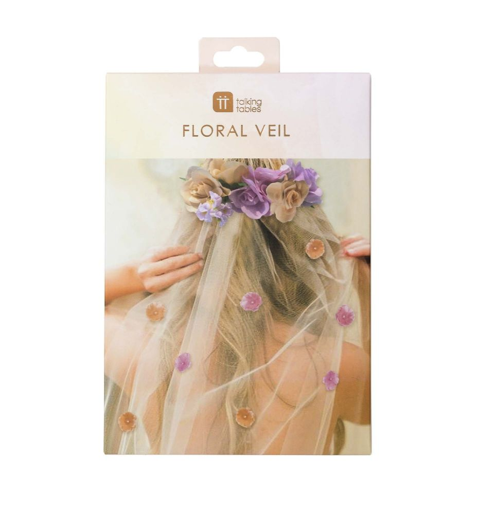 Bride To Be Floral Veil
